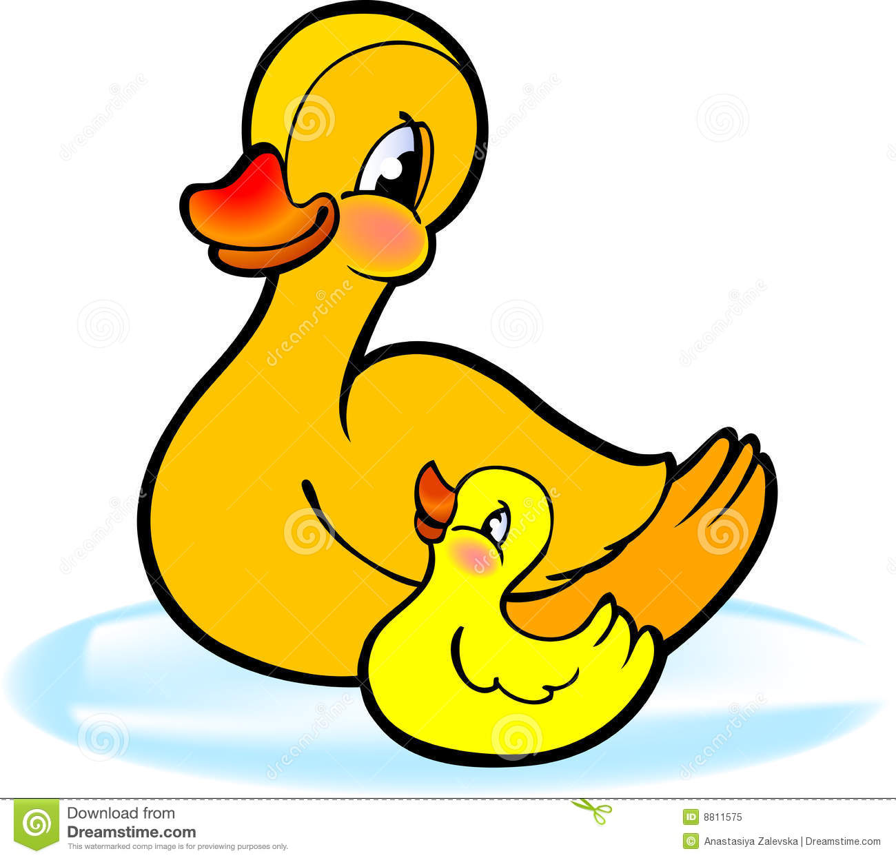 Duck and station . Ducks clipart duckling