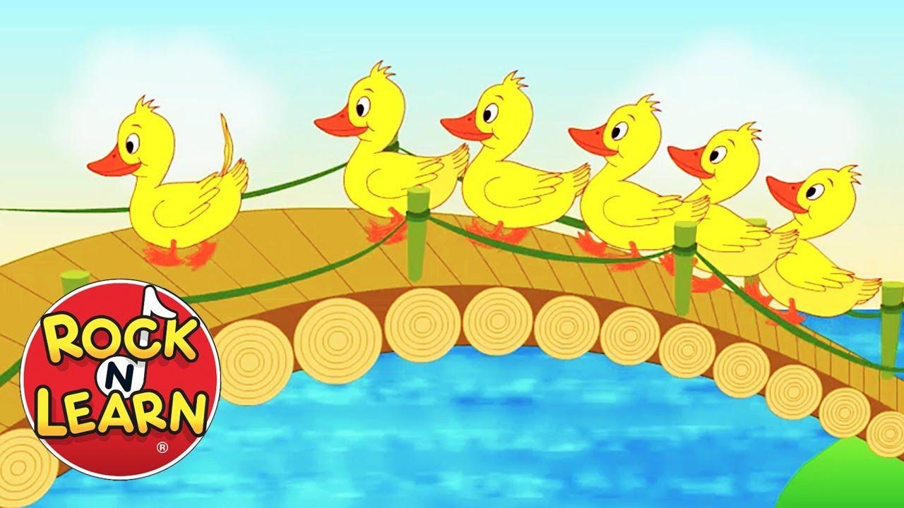 . Ducks clipart six little ducks