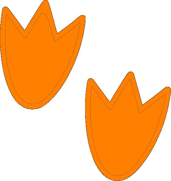 Dino clip art at. Feet clipart orange