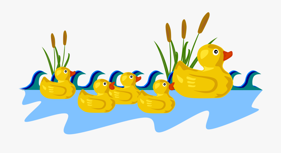 Duckling clipart family. Rubber duck by gerald