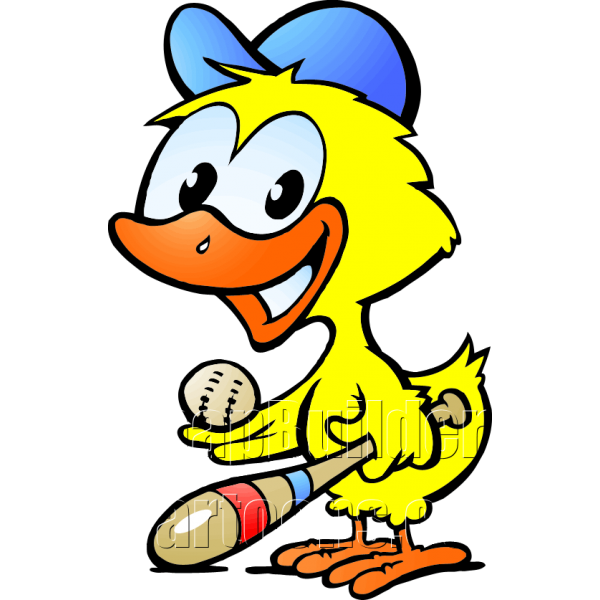Chicken baseball player . Ducks clipart animal reproduction