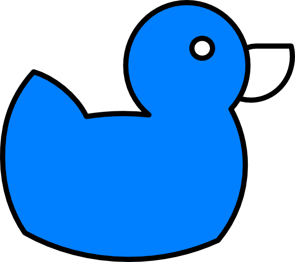 Ducks clipart blue. Ducky clip art at