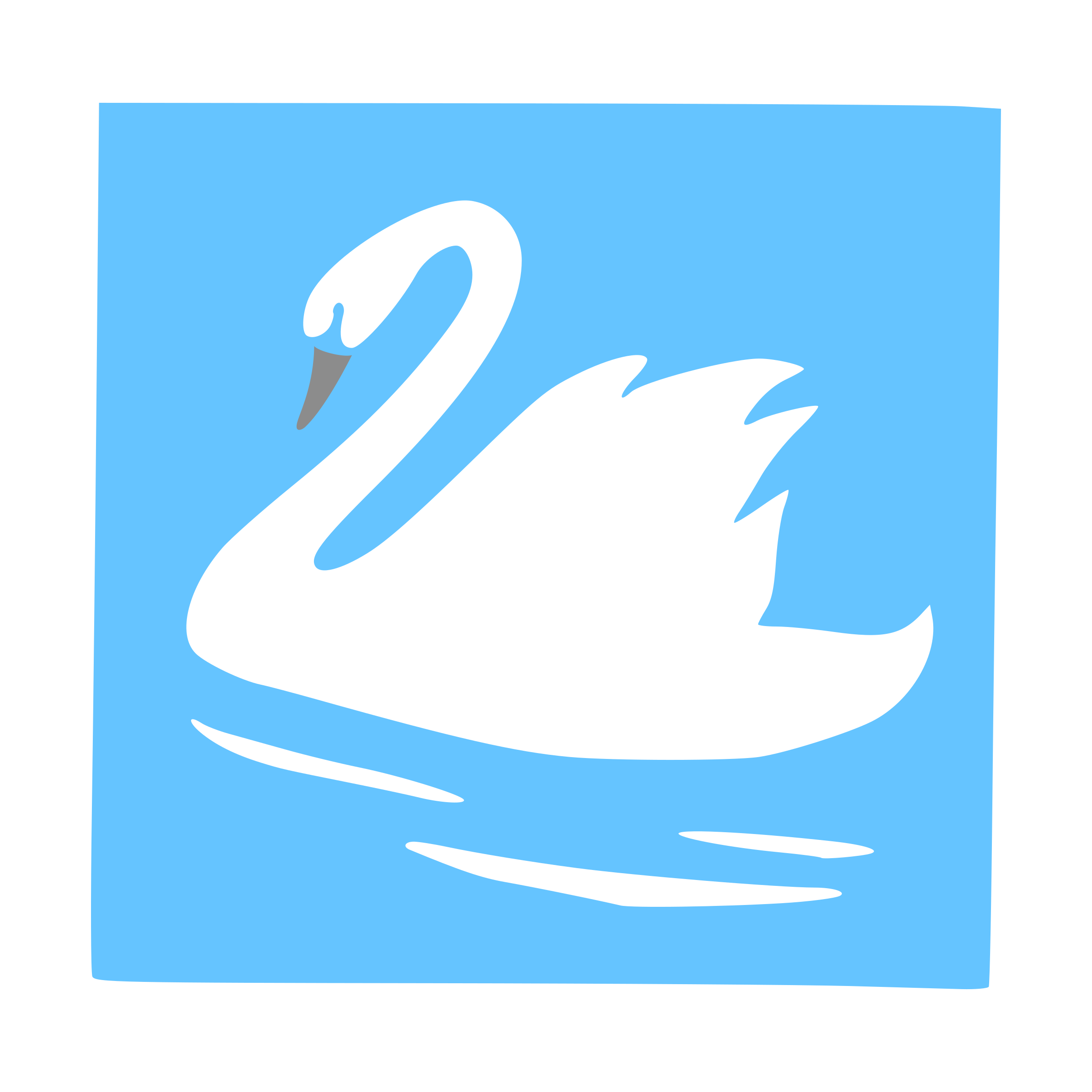 Swan outlined big image. Ducks clipart blue