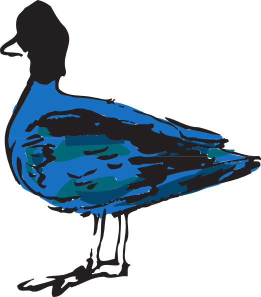 Ducks clipart blue. Duck clip art at