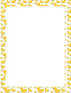 Duck frame art clip. Ducks clipart border