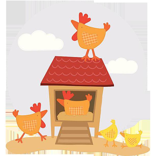 Chicken coop duck poultry. Ducks clipart brood