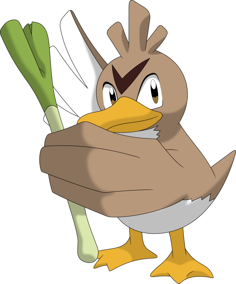 Farfetch d by porygon. Ducks clipart duck waddle