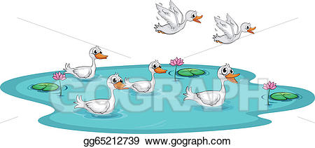 Clip art vector a. Ducks clipart group duck