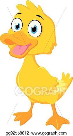 Eps vector duck cartoon. Ducks clipart happy