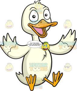 A duck . Ducks clipart happy