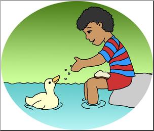 Ducks clipart kid clipart. Clip art kids boy