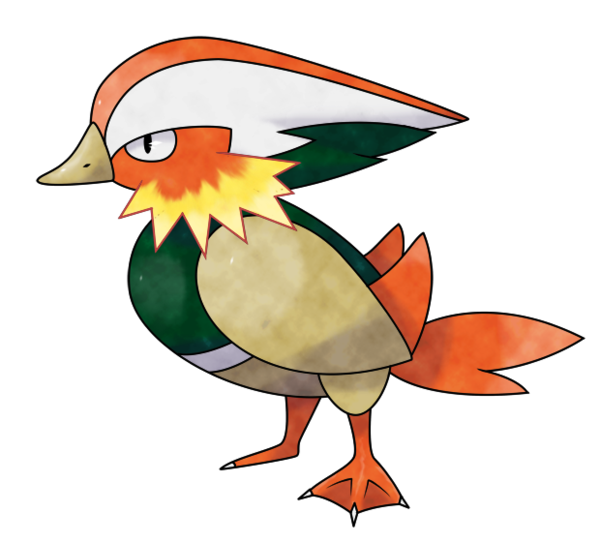 Ducks clipart mandarin duck. Fireduck by kronnick on