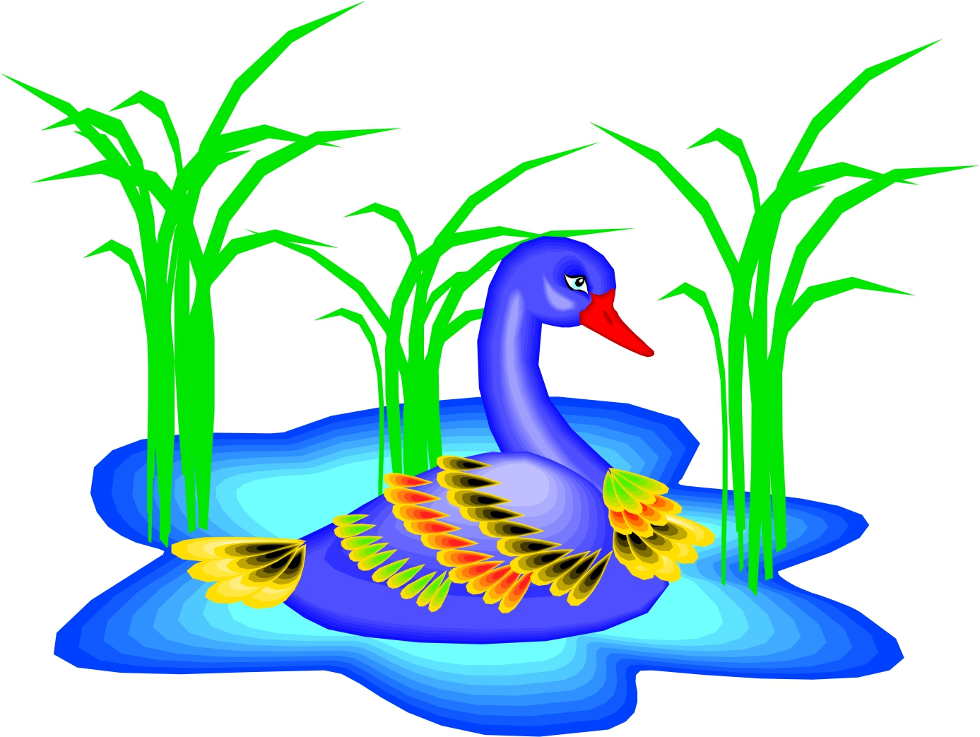 Ducks clipart pond cartoon. Free images download clip