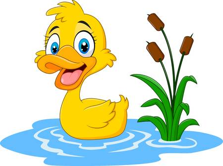 In a station . Ducks clipart pond clipart
