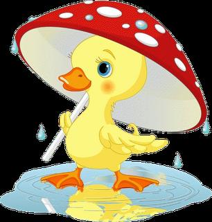 Pin by redrose u. Ducks clipart rain