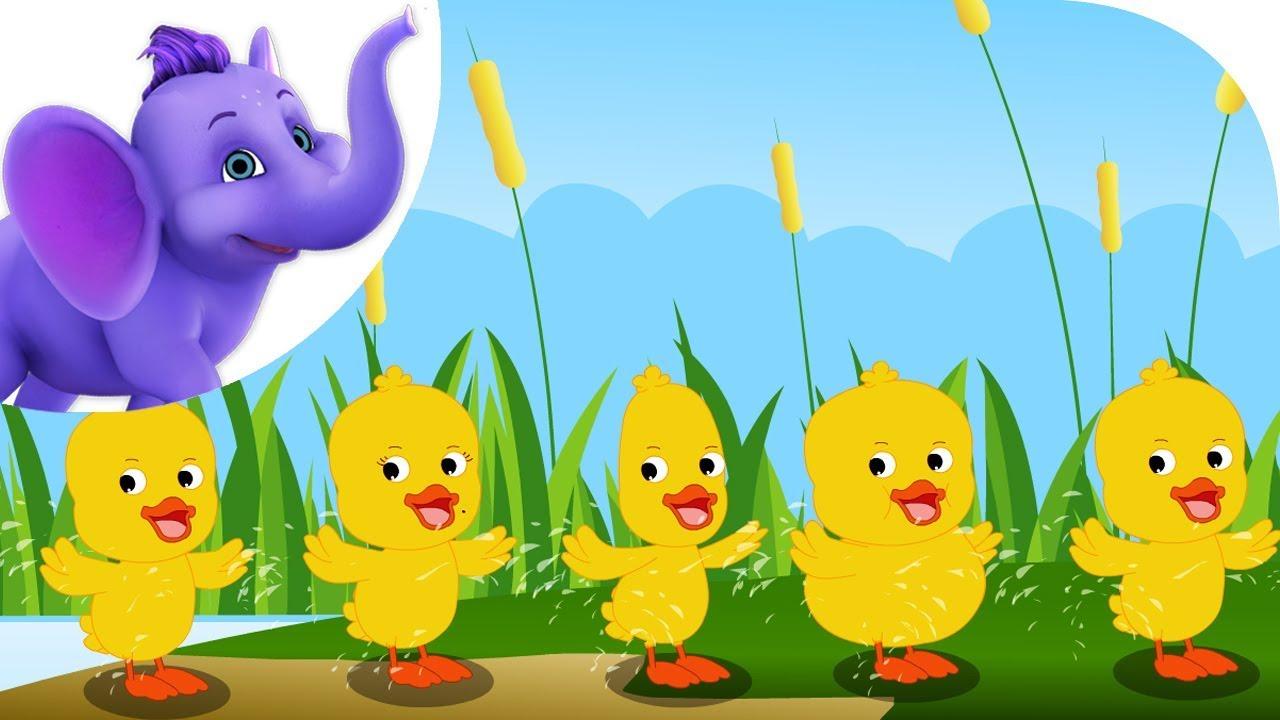 Ducks clipart six little ducks. Nursery rhyme with karaoke