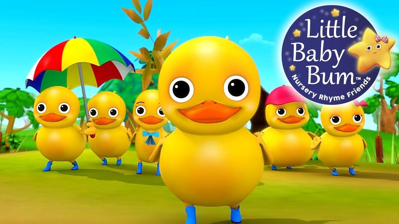 From five nursery rhymes. Ducks clipart six little ducks