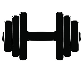 Svg etsy equipment weights. Dumbbell clipart