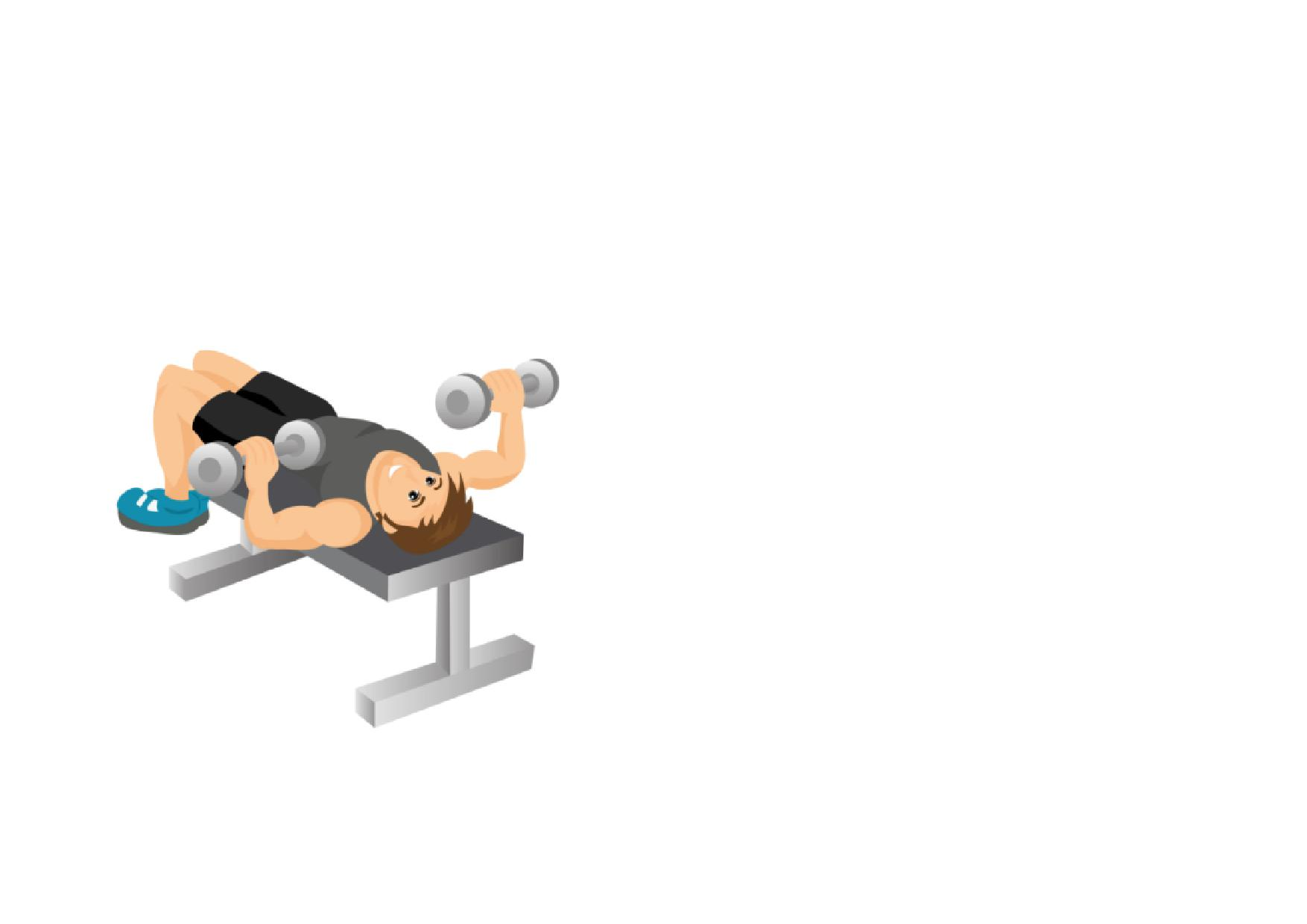 Dumbbell clipart arm workout. Gym fitness full page