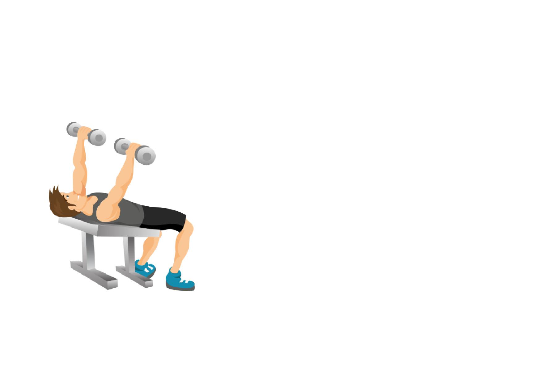 Gym fitness full page. Dumbbell clipart arm workout