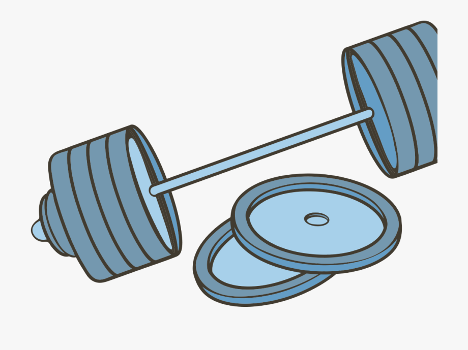 Blue weight and iron. Dumbbell clipart barbell plate