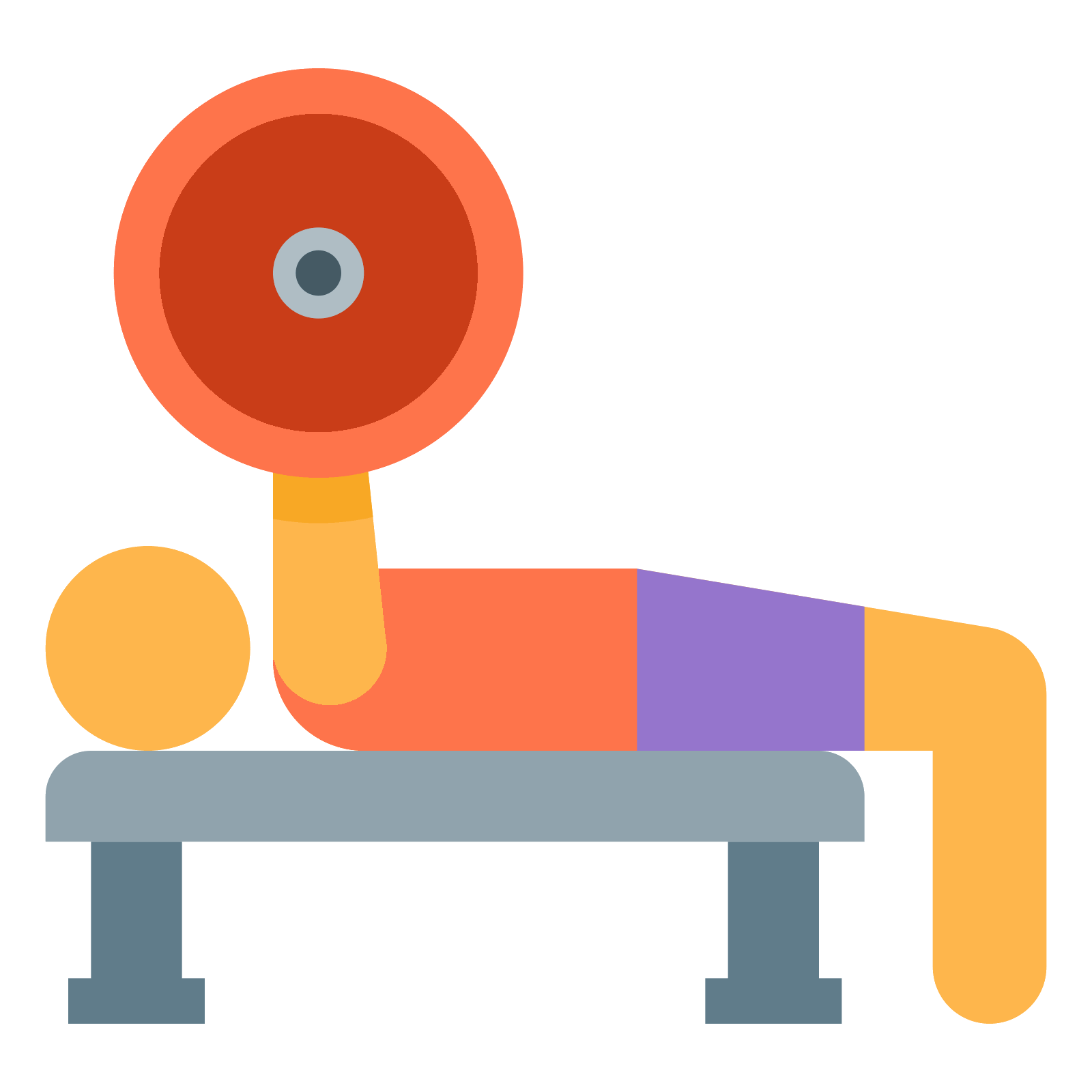 Dumbbell clipart bench press bar. Icon free download png