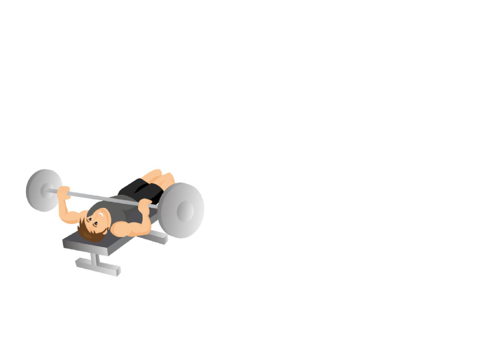 Gym fitness full workout. Dumbbell clipart bench press bar