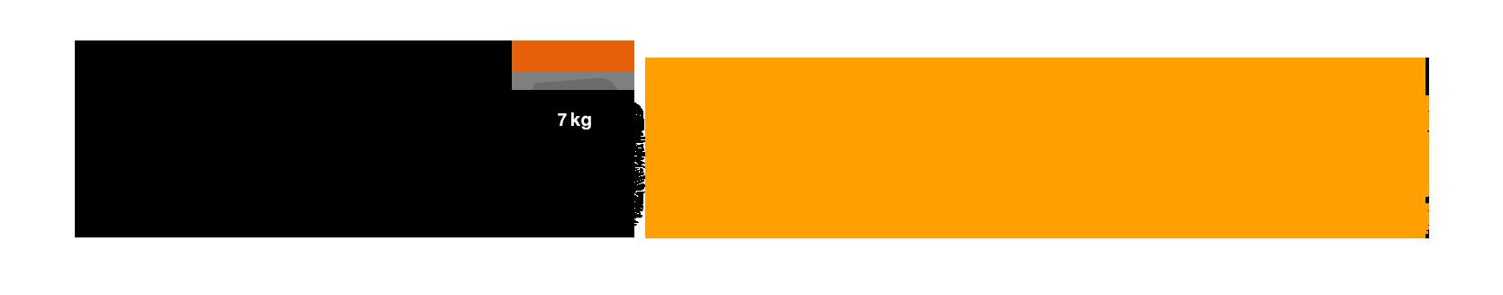 Workout nekoterran logo. Dumbbell clipart bent