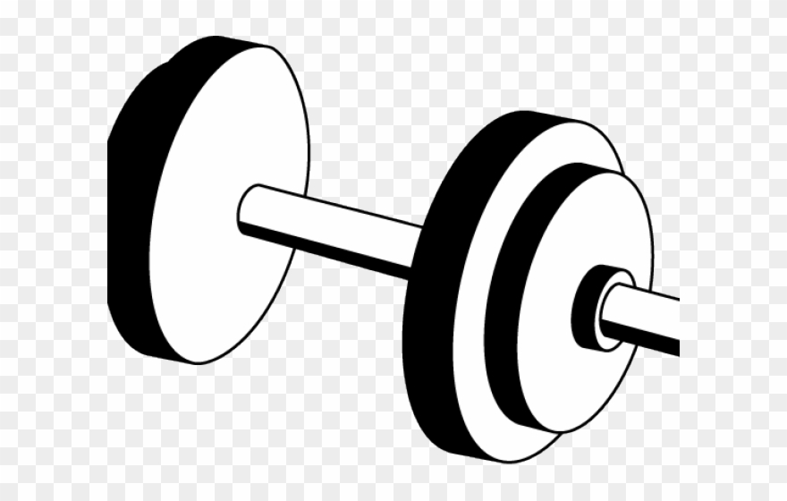 Dumbbells clipart black and white. Png free library dumb