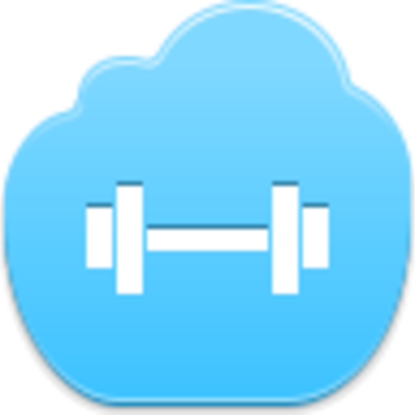 Barbell icon free images. Dumbbell clipart blue