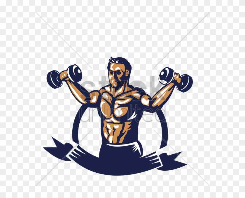 Barbell bodybuilding bodybuilder with. Dumbbells clipart body building