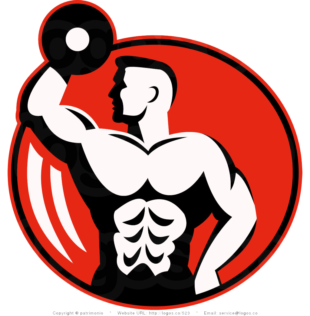 Dumbbells clipart fitness center. Centre logo bodybuilding clip