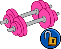 Pink save our oceans. Dumbbell clipart cartoon