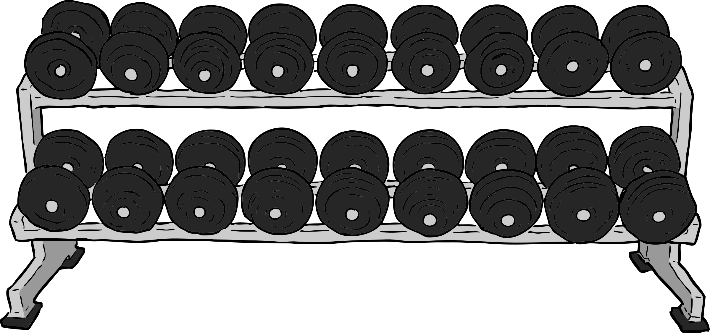 Weight clipart gym weight. Dumbell rack big image