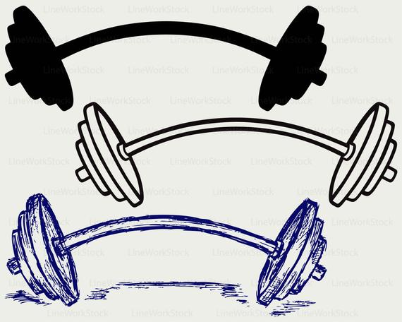 Dumbbell clipart drawing. Weight svg silhouette cricut
