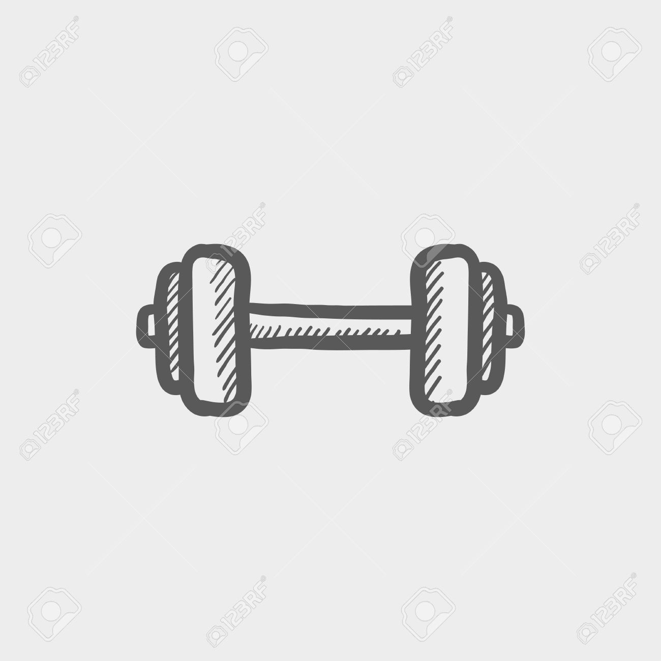 Dumbbell clipart drawing. At paintingvalley com explore