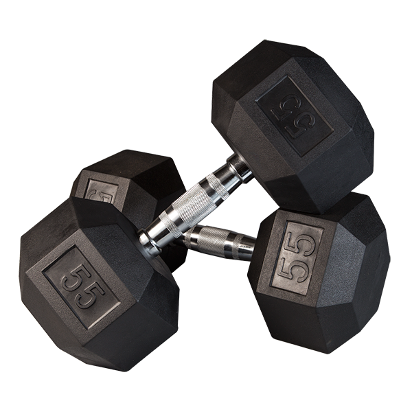 Dumbbells clipart dumble. Rubber hex with chrome