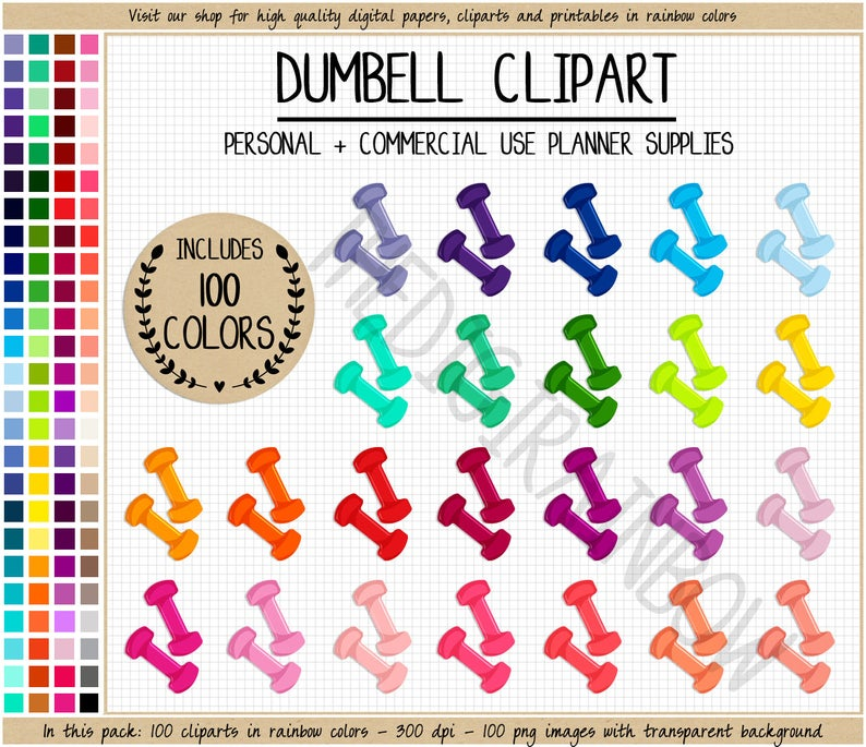Sale weights rainbow stickers. Dumbbell clipart dumbell