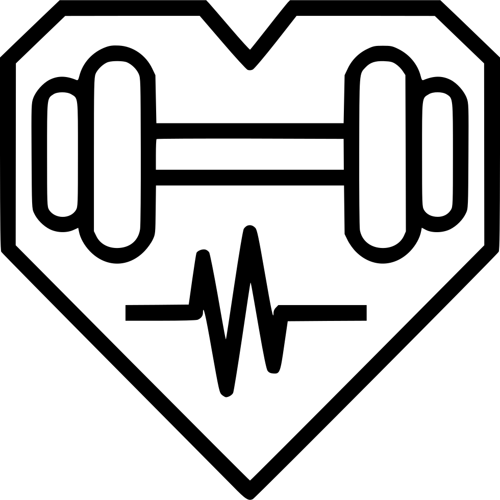 Exercise clipart dumbell. Health heart dumbbell fitness