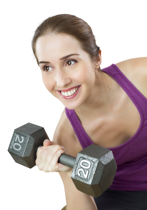 Young fit woman exercises. Dumbbell clipart female fitness