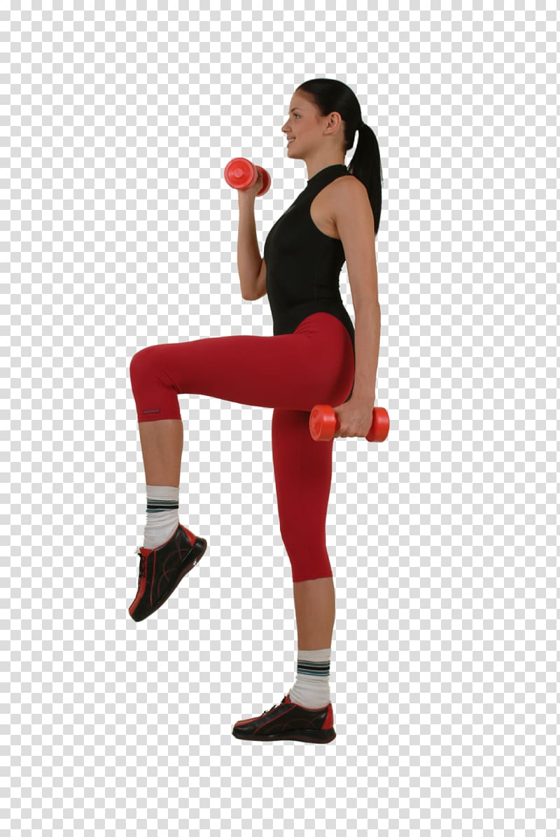 Woman exercising holding dumbbells. Dumbbell clipart gym coach