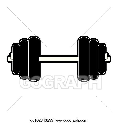 Dumbbell clipart gym equipment. Eps illustration vector