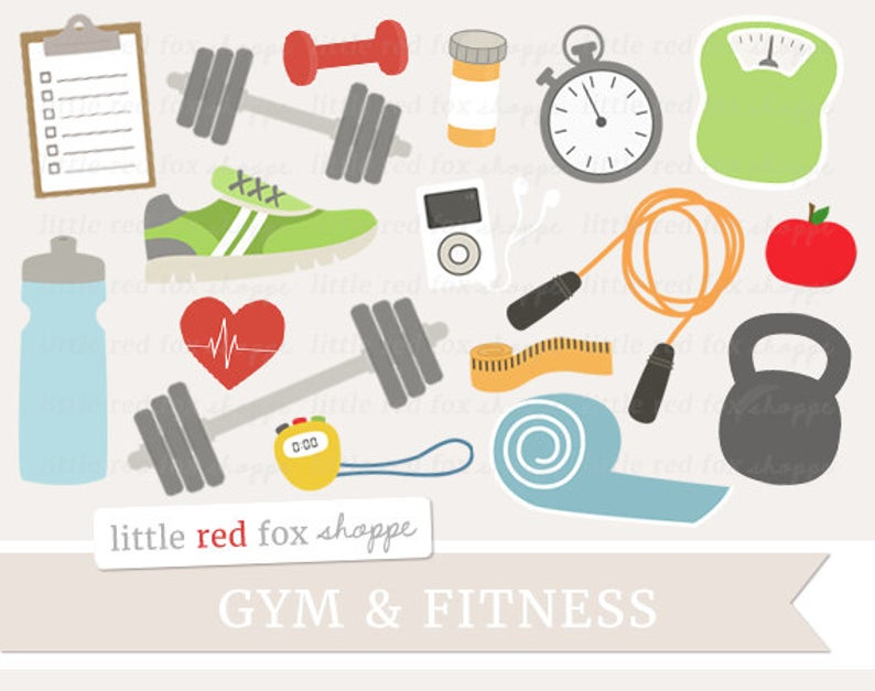 Fitness clip art health. Exercise clipart gym equipment