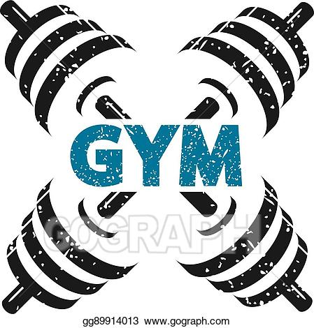 Vector stock for gym. Dumbbells clipart fitness