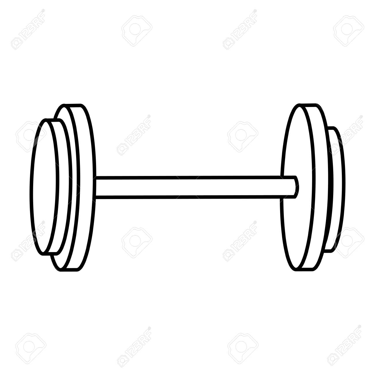 Dumbbells sketch at paintingvalley. Weight clipart drawn