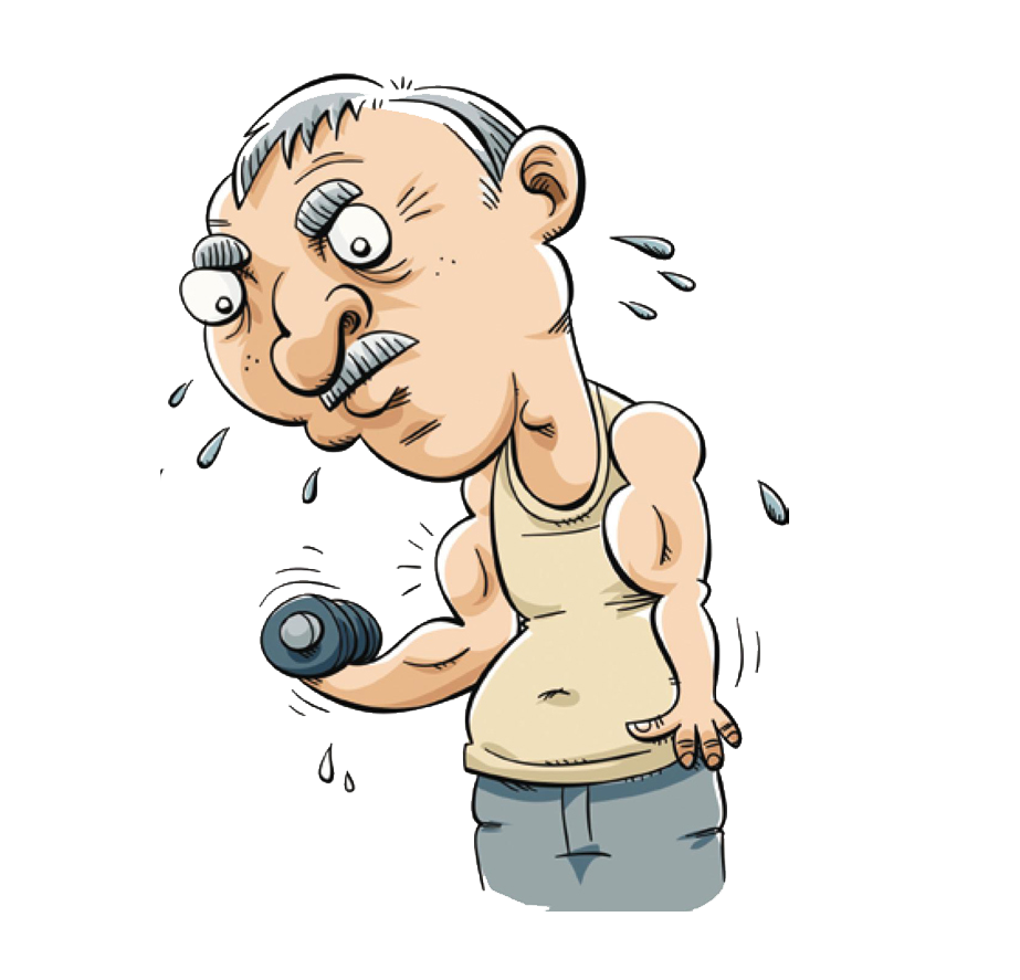 Cartoon royalty free physical. Exercising clipart character