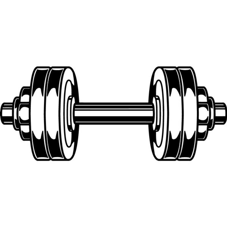 Weightlifting bodybuilding workout gym. Dumbbell clipart health fitness