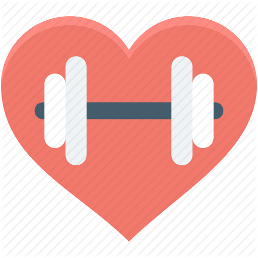 Background exercise red transparent. Dumbbell clipart heart