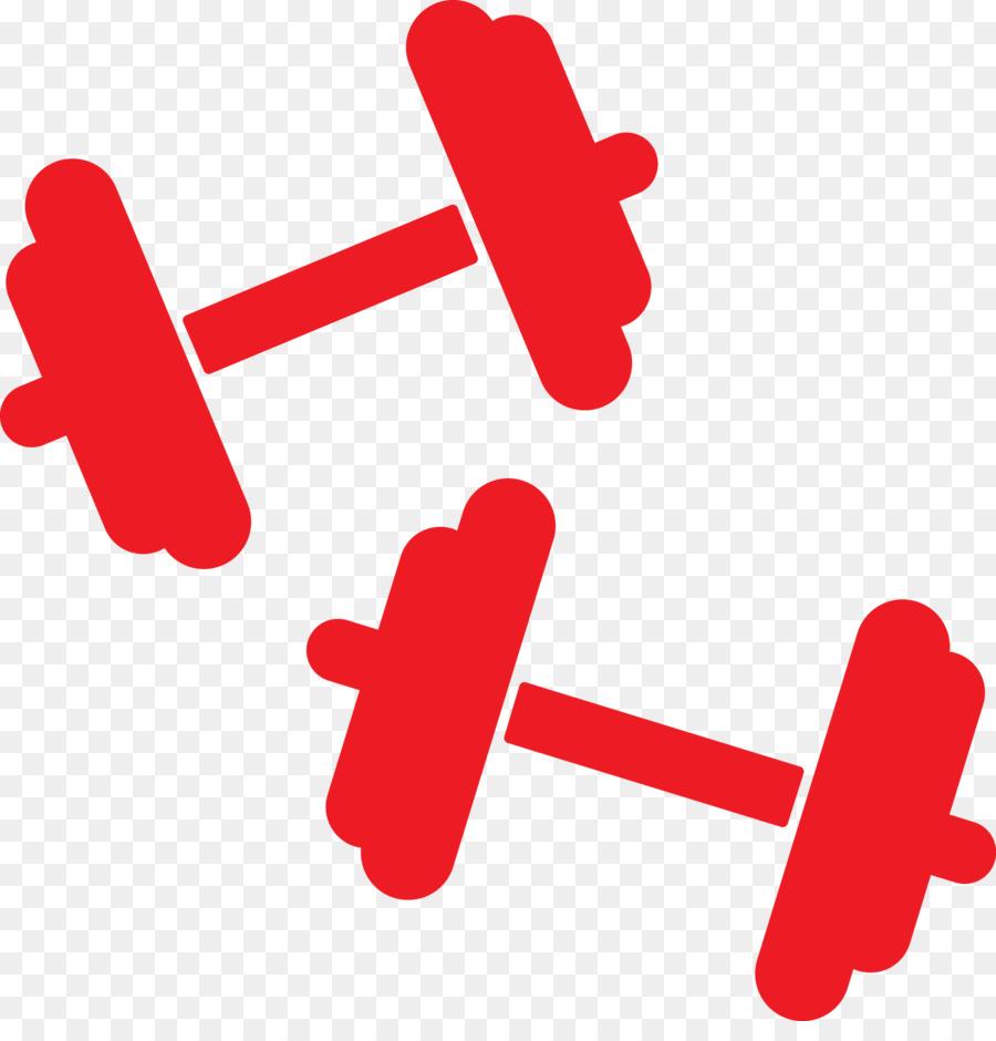 Design exercise red line. Dumbbell clipart heart