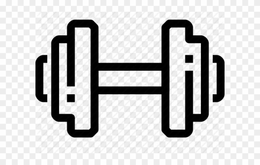 Dumbbell clipart heart. Dumbbells health fitness icon
